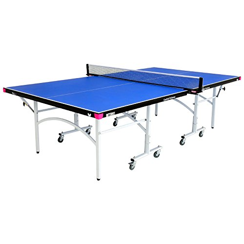 Butterfly Easifold 19mm Table Tennis Table with Net Set - Features 10 Minute Assembly, 3 Year Warranty, Playback Mode, Compact Storage
