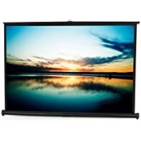 VIVO 50 Portable Tabletop Projector Screen 4:3 Format - Mobile Projection Pull Up Folding Stand (PS-TP-050B)