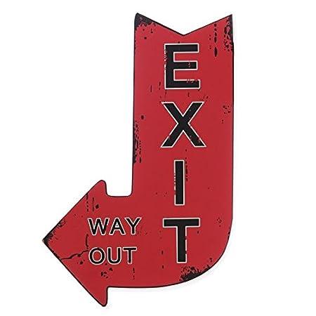 Vintage decorativo Flecha 25 x 40 cm - Señal - diversión ...