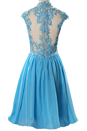 Prom Short Chiffon Lace Neck Bridal Pool High Dresses Homecoming Women's Bess Fwx0H1q4x