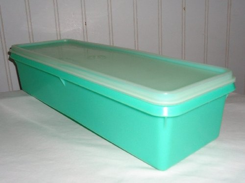 - Tupperware Vintage Jadite Green Produce Thin-storTM Celery Storage with Frosted Seal #892 Vegetable Crisper Keeper
