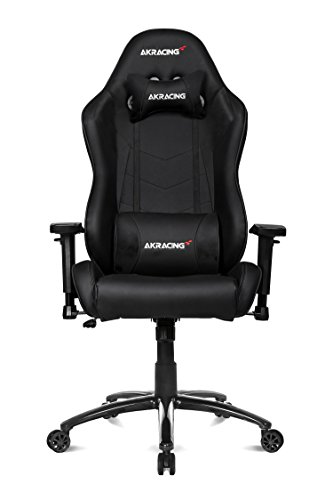 AKRacing Octane Super-Premium Gaming Chair with High Backrest, Recliner, Swivel, Tilt, Rocker and Seat Height Adjustment Mechanisms with 5/10 warranty (Black) by AKRacing