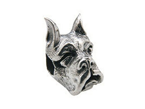 Dog Zable Bead - Zable Sterling Silver Boxer Dog Face Pandora Compatible Bead/Charm