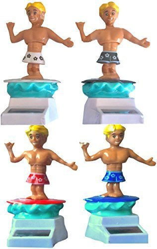 Solar Surfers Set of 4 the Best Solar Figures That Dance No Batteries All Solar and Fun by Solar Surfers