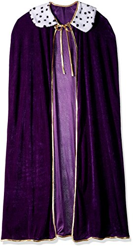 Adult King/Queen Robe (purple) Party Accessory  (1 count) (1/Pkg) (Mardi Gras Queen)