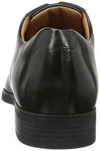 20110201 Herren 9999 Schuh Toe Derby Weber Cap Schwarz n7xwO