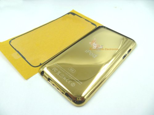- Gold Golden Color Metal Back Rear Housing Case Cover Shell Backplate Rubber Plastic Frame Bracket Bezel Double-side Adhesive Glue for Ipod Touch 4th Gen 8gb