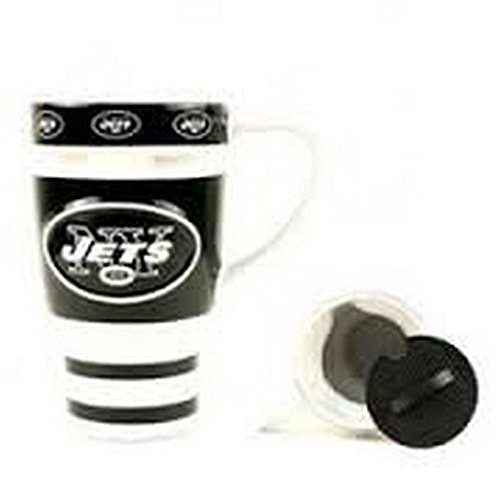 Boelter Brands NFL Officially Licensed 16 Oz Ceramic Coffee Mug (New York Jets)