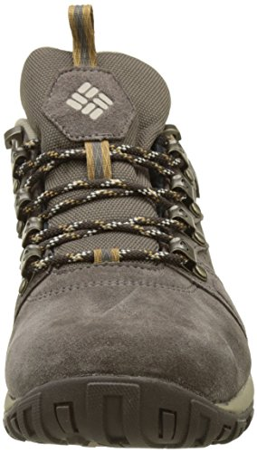Columbia Peakfreak Venture Low Suede WP, Stivali da Escursionismo Uomo Grigio (Major/ Ancient Fossil)