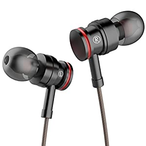 Earphones with Microphone Stereo Headphones Earbuds with Mic and Volume Control for iPhone Samsung and More Android Smartphones,3.9 Ft/Black