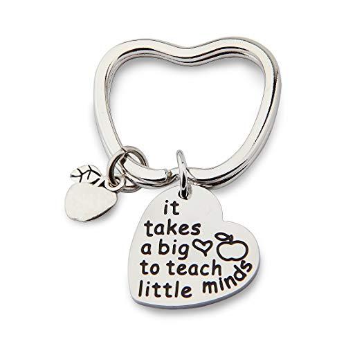 Teacher Keychain Gifts It Takes a Big Heart to Teach Little Minds Teacher Graduation Gifts Back to School Gift Teacher Appreciation Teacher Keychain (Keychain)