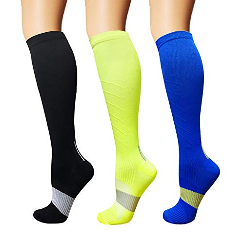 3/5 Pairs Compression Socks Women & Men - Best Medical,Nursing,Hiking,Travel & Flight Socks-Running & Fitness