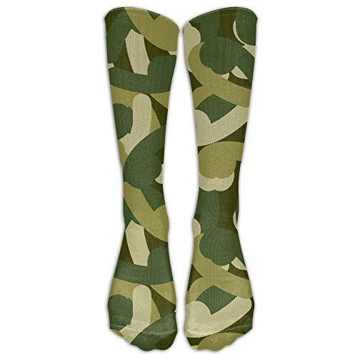 (Penis Camo Thin Crew Socks Tube Socks Novelty Dress Socks For Womens Mens)