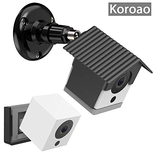 Wyze Camera Wall Mount Bracket,Protective Weatherproof Housing+Security Mount,with Wall and Ceiling Mount for Wyze Cam 1080p HD Camera and iSmart Alarm Spot Camera by Koroao (1 Pack, Black)