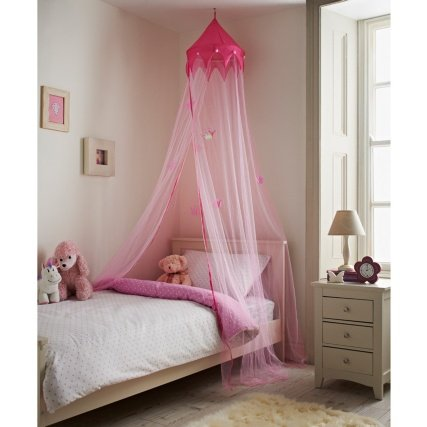 Pink Princess Style Bed Hanging Canopy Mosquito Insect Fly Net Bedroom