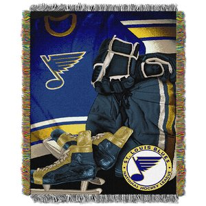 (The Northwest Company St Louis Blues Woven Tapestry Throw Blanket)