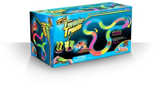 Mindscope TT255 Neon Glow Twister Tracks, 255-Pieces, 12 x 7 x 45-Inch (Discontinued by manufacturer)