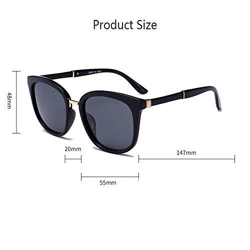 De De Gafas Gafas Caja De De La Sol Sol Gafas Estrellas Tendencia Gran Color Mujer Reflexiva De Gafas Película p5tCqxww