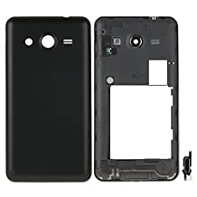 iPartsBuy Full Housing Cover Replacement(Middle Frame Bazel + Battery Back Cover) for Samsung Galaxy Core 2 / G355(Black)