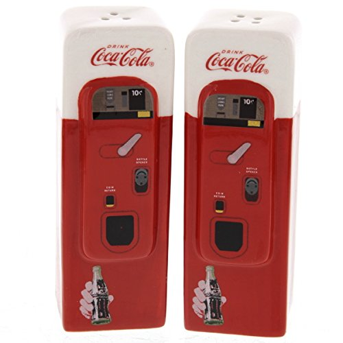 Coke Gift - Coca-Cola Vending Machine: Home Collectible Salt and Pepper Shaker Set by Sunbelt Gifts