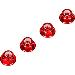 Red 4MM Wheel Nuts (Set of 4) for Traxxas Axial Racing HPI Racing TLR and ECX Vehicles