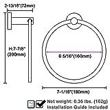 Matte Black Towel Ring, APLusee Stainless Steel