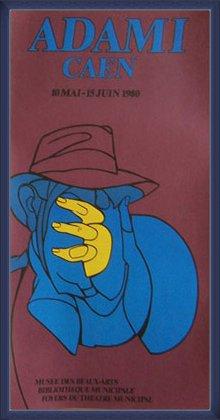 ポスター ヴァレリオアダミ CAEN 額装品 ウッドベーシックフレーム(ブルー) B071GKZJ42ブルー