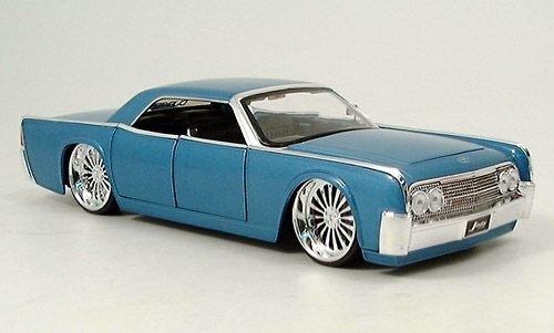 Lincoln Continental Tuning, met.-hellblau, 1963, Modellauto, Fertigmodell, Jada 1:24