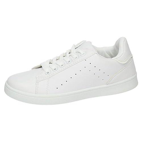 787dbd62 DEMAX 7-C004C-12 Deportivos Blancos Mujer Deportivos: Amazon.es: Zapatos y  complementos