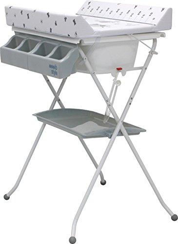 IB-Style Table /à langer pliable avec baignoire Commode avec matelas /à langer D/écorFriends