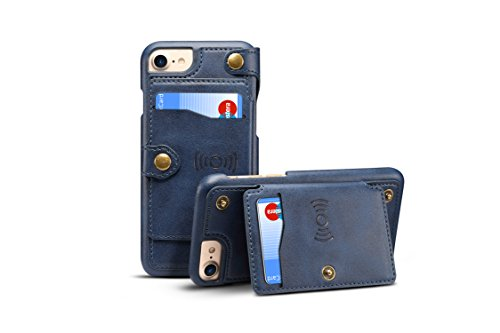Leather Shell Compatible with iPhone 7/8,TACOO Zipper Credit Card Business Card Holder Money Slot Slim Soft Fashion Removable Protective Wallet Phone Case Cover for Apple iPhone 6/6S 7/8 (Notre Dame Iphone 4 Case)
