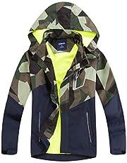 LAUSONS Gevoerde regenjas voor jongens, camouflage, waterdichte windjas