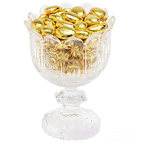 Decorative 6 Inch Centerpiece Crystal Bowl Salad for Fruit and Dessert Elegant Footed Glass Candy Dish