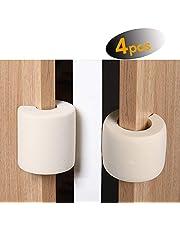 Aelfox 4 Pack Door Pinch Guards, Baby Safety Door Stopper, Foam Finger Pinch Guards Prevents Fingers Injuries & Fits Any Door(Beige)