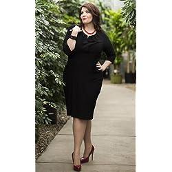 "Mikarose Women's ""Katherine"" Modest Dress, Black"