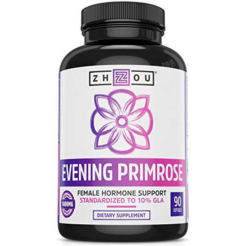 Evening Primrose Oil Capsules- Supports Hormone Balance for Women, PMS & Menopause Support, Cold Pressed & Hexane Free - 1400mg 10% GLA ()