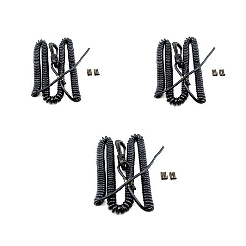 YakGear Custom Coiled Accessory Leash CUSL24 For Pliers, Cameras, Fishing Poles, and Gear, 3 Pack by Three Belles Outfitters