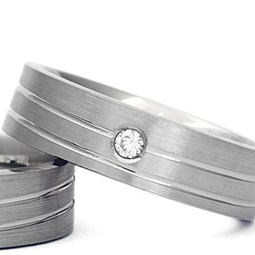 2x Wedding Bands for Women + Men. 925 Sterling Silver Engagement Promise Rings. As 8K 9K 10K 14K 18K Karat White Yellow Rose Gold, Platinum, Palladium Ring in any size available