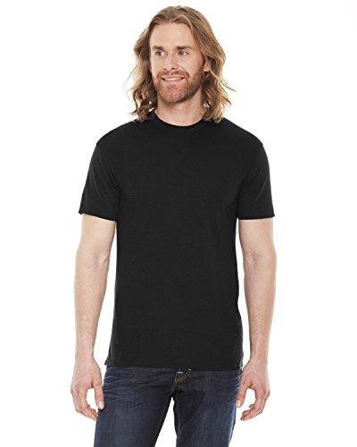 American Apparel BB401W Unisex Poly-Cotton Crew Neck T-Shirt Black L