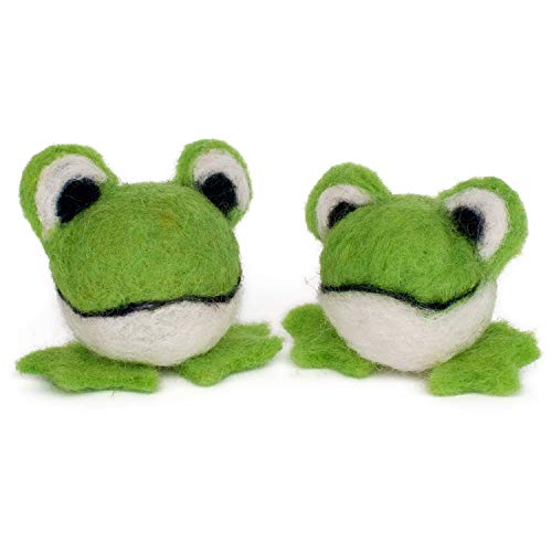 (Dimensions Needlecrafts Round and Wooly Frogs Needle Felting Kit)