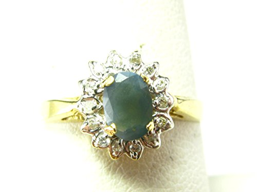 Alexandrite + Diamond Ring in 14k Yellow Gold - Size 7 - Russian Alexandrite Ring