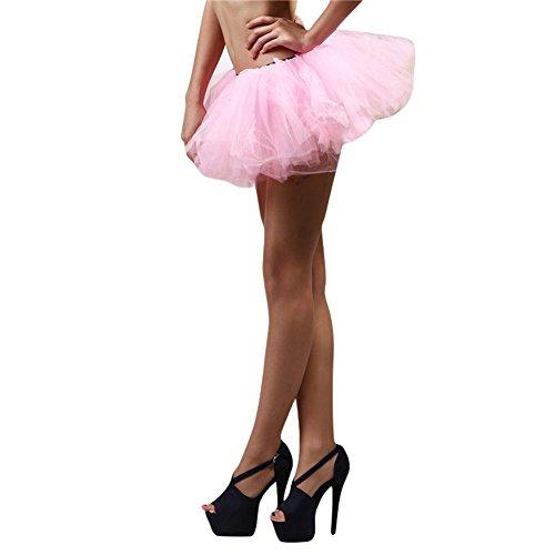 Dance Femmes Etosell Couche Rose Jupe Pettiskirt Ballet 5 xIIqgdr