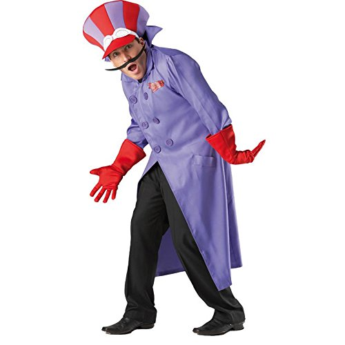 Rubie's Dick Dastardly Fancy Dress Costume for Men - Two Sizes. Become the ultimate cartoon villain!