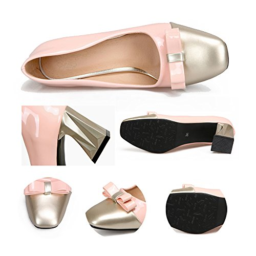 37 pink Color Square Last Shoes Chromatic Small Fashionable fxR0Oqxw