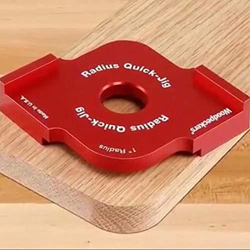 zuizay - 2pcs Wood Panel Radius Quick Jig Router Table Bit Jig Corner Template Woodworking Tools