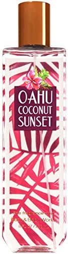 Bath and Body Works Fine Oahu Coconut Sunset Fragrance Mist 8 Fl Oz