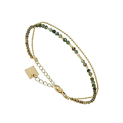 Zag Bijoux Bracelet Multi,Rangs Perles (Turquoise)
