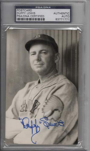Duffy Lewis PSA/DNA Auth Autographed Signed B&W Postcard Boston Red Sox Braves from Sports Collectibles Online