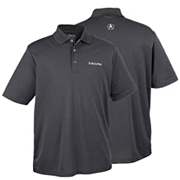 Genuine Acura Men\'s Core 365 Polo Shirt - Gray - Size Large