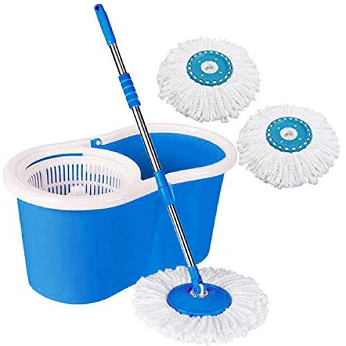 Dewberries Bucket Mop with 3 Refills-Super Absorbent Refills for All Type of Floors, 360 Degree Spin Bucket, 180 Degree…